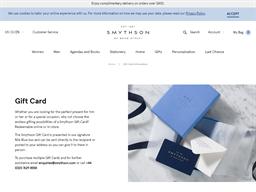 Smythson gift card purchase