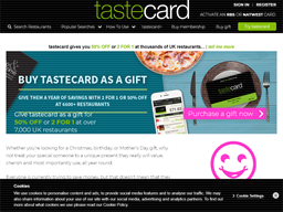 Tastecard gift card purchase