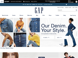 Gap Options shopping