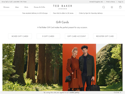 Ted Baker gift card purchase