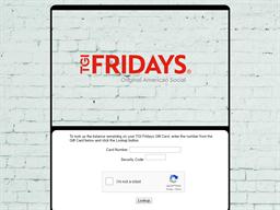 TGI Fridays gift card balance check
