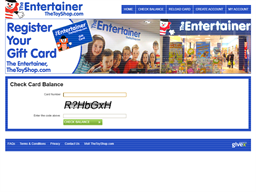 The Entertainer gift card balance check