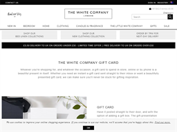 The White Company gift card purchase