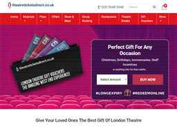 TheatreTickets Direct gift card purchase