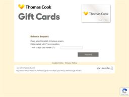 Thomas Cook gift card balance check