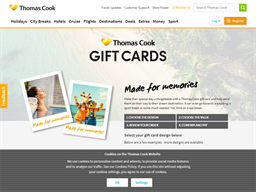 Thomas Cook gift card purchase