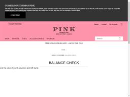 Thomas Pink gift card balance check