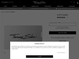 Thomas Sabo gift card balance check