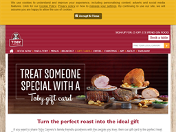 Toby Carvery gift card purchase