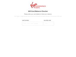 Virgin Experience Days gift card balance check