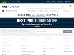 Golf Galaxy gift card purchase