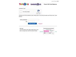 Babies R Us gift card balance check
