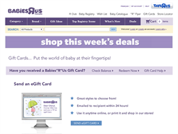 Babies R Us gift card purchase
