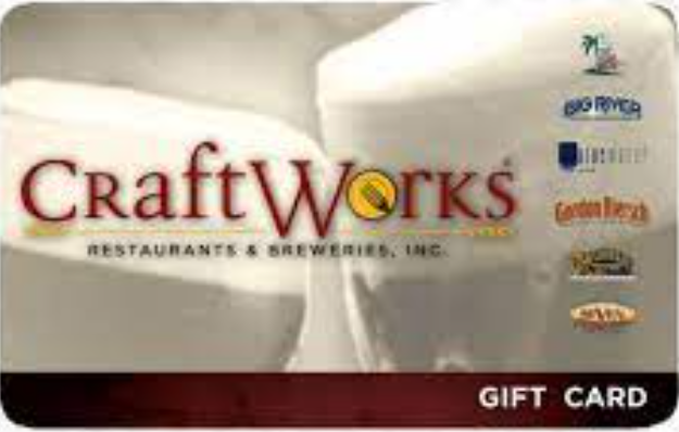 Craft Works Restaurants gift card design and art work