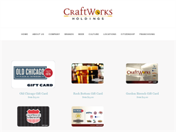 Craft Works Restaurants gift card purchase