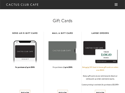 Cactus Club Cafe gift card purchase