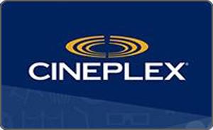 Cineplex gift card design and art work