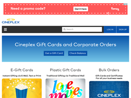 Cineplex gift card purchase
