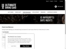 Elephant Castle gift card balance check