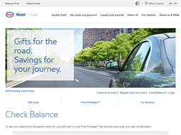 Esso gift card balance check