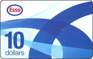 Esso gift card design and art work