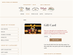 Far Niente gift card purchase