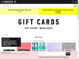 Forever 21 gift card balance check