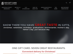 RCR Hospitality Group gift card purchase