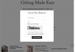 Home Outfitters gift card balance check