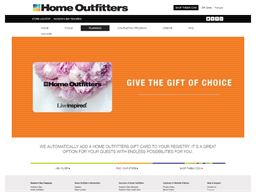 Home Outfitters gift card purchase