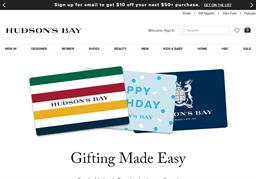 Hudson's Bay gift card balance check