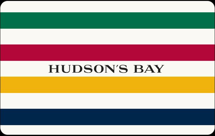 Hudson's Bay gift card design and art work
