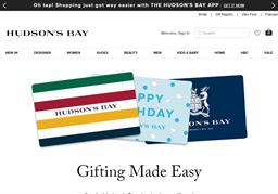 Hudson's Bay gift card purchase