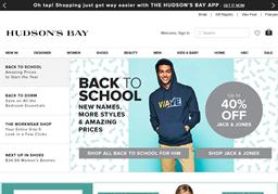 Hudson's Bay shopping