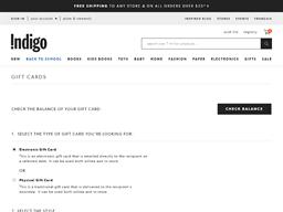 Indigo gift card purchase