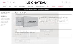 Le Chateau gift card purchase