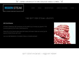 Modern Steak gift card purchase