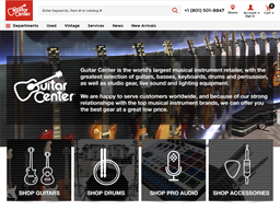 Guitar Center shopping