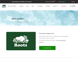 Roots gift card purchase