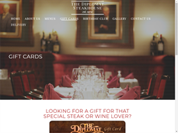 The Diplomat Steakhouse gift card purchase
