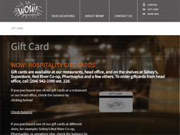 WOW Hospitality gift card purchase