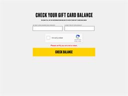 Buffalo Wild Wings gift card balance check