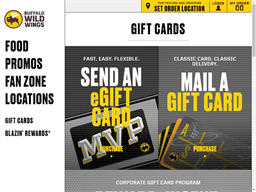 Buffalo Wild Wings gift card purchase