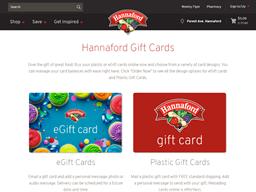 Hannaford gift card balance check