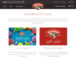 Hannaford gift card purchase