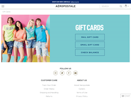 Aeropostale gift card purchase