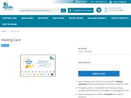 Apollo Hospitals Healing Card gift card purchase