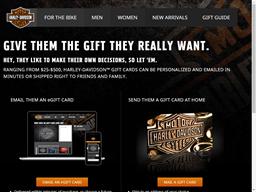 Harley Davidson gift card purchase