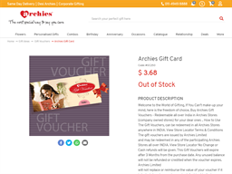 Archies Online gift card purchase