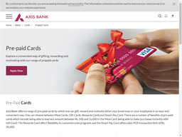 Axis Bank Prepaid gift card purchase